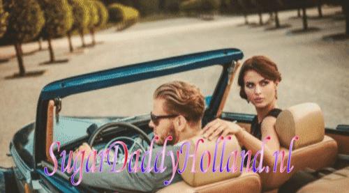 man en vrouw in een luxeauto